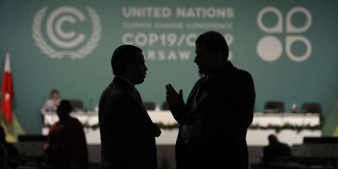 A la conférence sur le climat de Varsovie, le 12 novembre 2013.