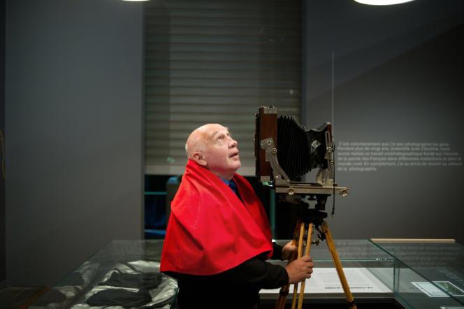 Le photographe Raymond Depardon à la Bibliothèque Nationale de France (BNF), en septembre 2010.