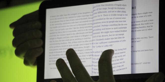 L'application Googe Books, en démonstration sur une tablette Android.