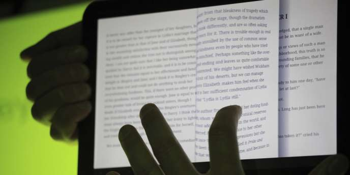 L'application Googe Books, en démonstration sur une tablette Android.