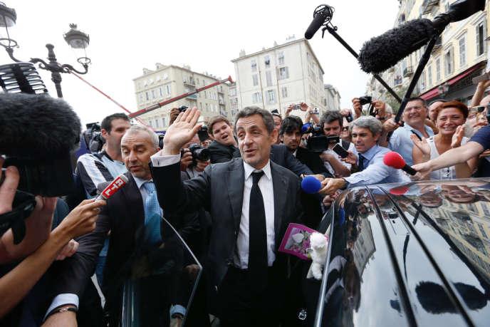 Nicolas Sarkozy à Nice, le 27 septembre.