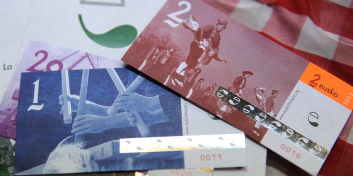 La monnaie locale Eusko, en circulation au Pays-Basque.