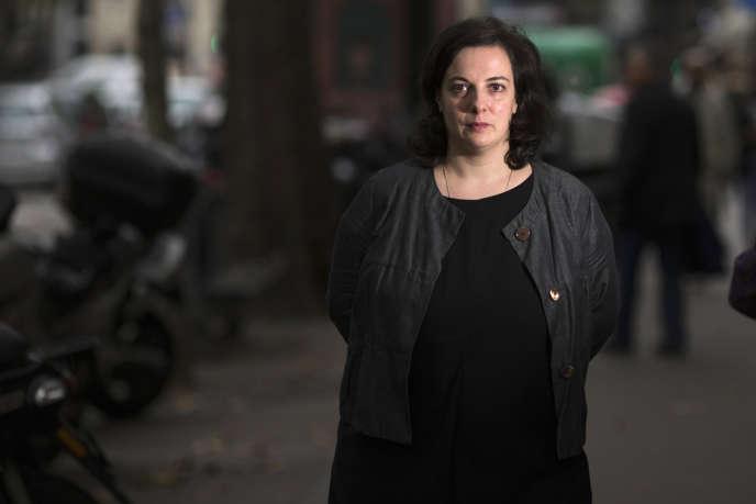 Emmanuelle Cosse, secrétaire nationale d'EELV, à Paris en octobre 2013.