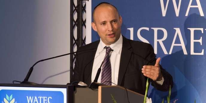 Naftali Bennett, ministre de l'économie israélien, le 22 octobre à Tel Aviv.