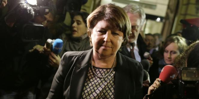 Martine Aubry parmi les journalistes le 12 novembre à Lille.