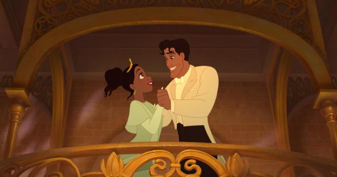 La princesse Tiana et le prince Naveen dans