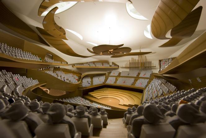 Maquette de la future salle, dont l'astucieuse modularité permettra d'accueillir 3 500 spectateurs.