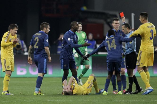 Les Bleus ont perdu leurs nerfs vendredi devant l'équipe d'Ukraine.