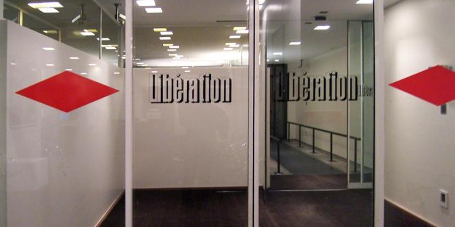 Le hall d'entrée de «Libération», rue Béranger à Paris.