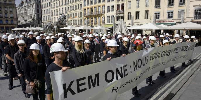 Le 9 septembre 2013, les salariés de Kem One défilaient dans les rues de Lyon.