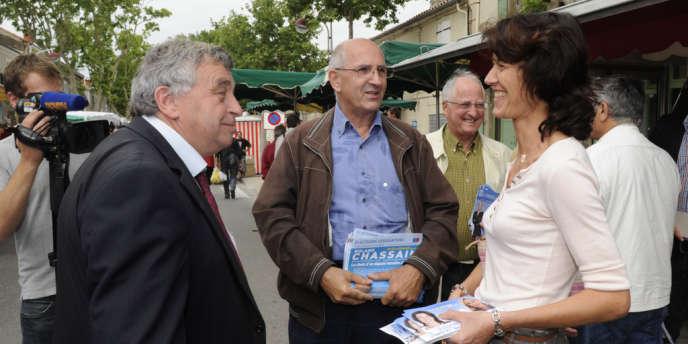 En 2012, Roland Chassain (UMP, à gauche) s'était désisté au second tour des législatives, au profit de Valérie Laupies (FN, à droite) pour