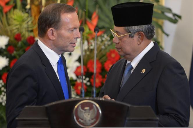 Le premier ministre australien Tony Abbott et le président indonésien Susilo Bambang Yudhoyono, le 3 septembre 2013, à Djakarta.