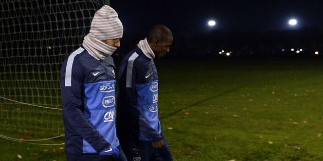 Eric Abidal et Karim Benzema à Clairefontaine alias