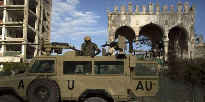 Des membres de l'Amisom, à Mogadiscio en novembre.