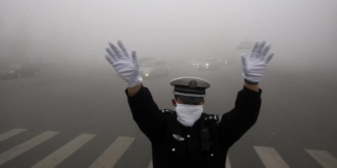Pollution à Harbin, dans la province chinoise du Heilongjiang, le 21 novembre.