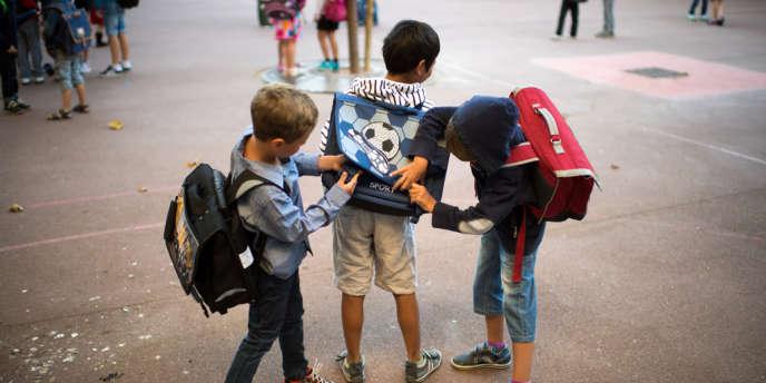 Dans une école parisienne en septembre 2013.