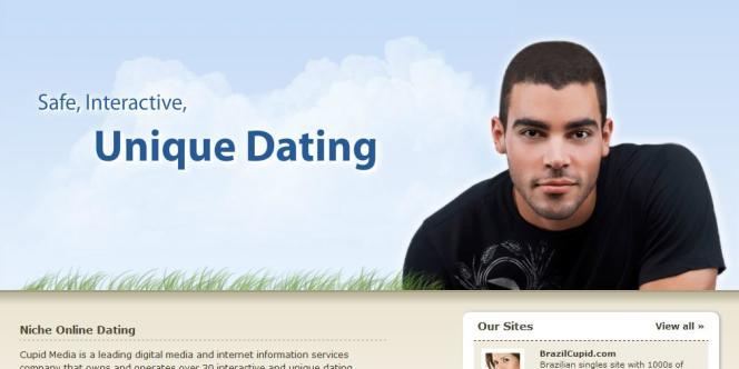 La page d'accueil de Cupid Media, qui a laissé fuiter les courriels et mots de passe de 42 millions de comptes.