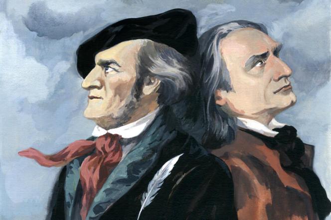 Richard Wagner et Franz Liszt.