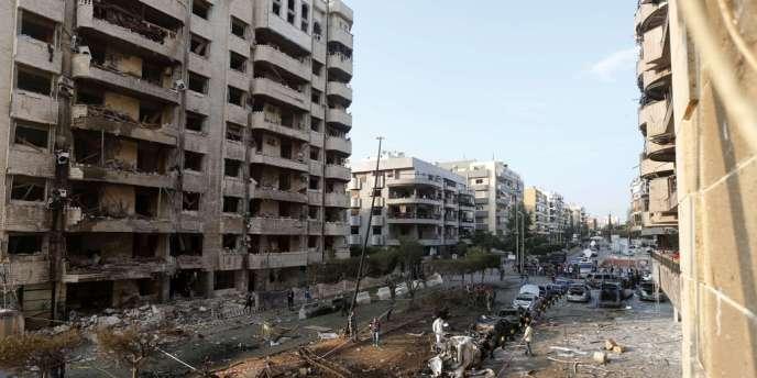 Après le double attentat suicide devant l'ambassade d'Iran à Beyrouth, le 19 novembre 2013.