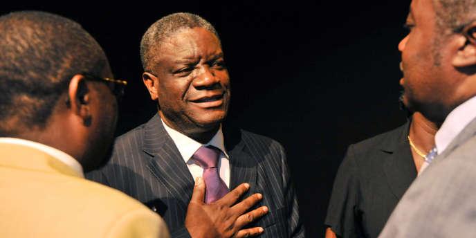 Le docteur Denis Mukwege, qui a fondé une clinique pour les victimes de viols, en mars 2013 à Kinshasa, en République démocratique du Congo.