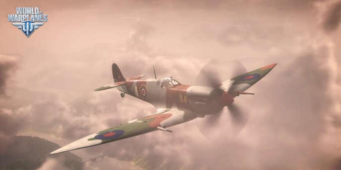 Un appareil britannique de «World of Warplanes».
