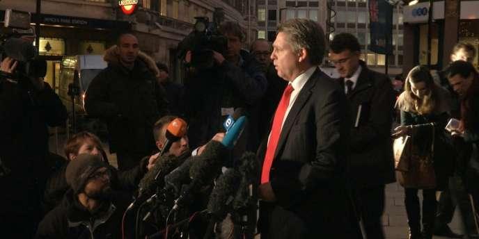 Conférence de presse de Kevin Hyland, le chef de l'unité de la police londonienne spécialisée dans le trafic humain, le 21 novembre.