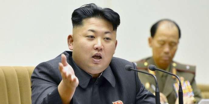 Un seul candidat, désigné par le parti unique, est autorisé à solliciter les suffrages dans chacune des 687 circonscriptions – ici, le leader de Corée du Nord, Kim Jong-Un.