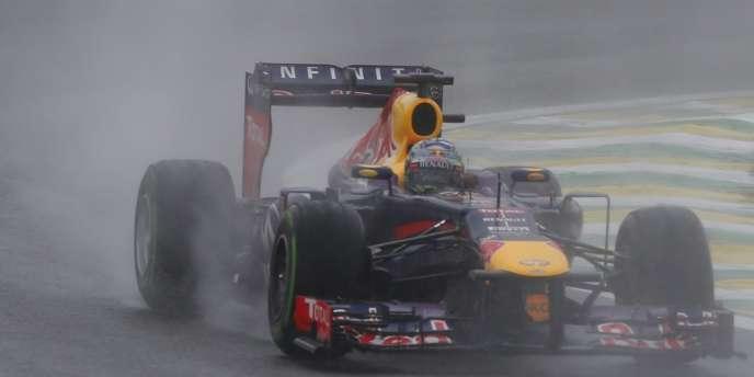 La pluie n'a pas épargné les pilotes lors des Q3 du GP du Brésil, le 23 novembre à Interlagos.