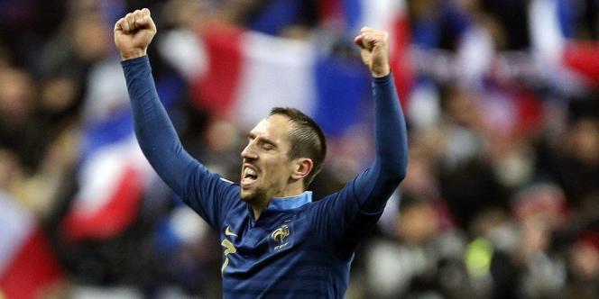 Franck Ribéry, mardi 19 novembre au Stade de France, après la victoire face à l'Ukraine (3-0).