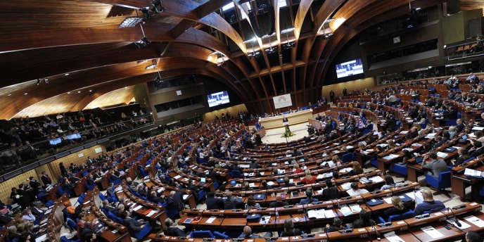 La première édition du Forum mondial de la démocratie, au Palais de l'Europe, à Strasbourg, en octobre 2012.