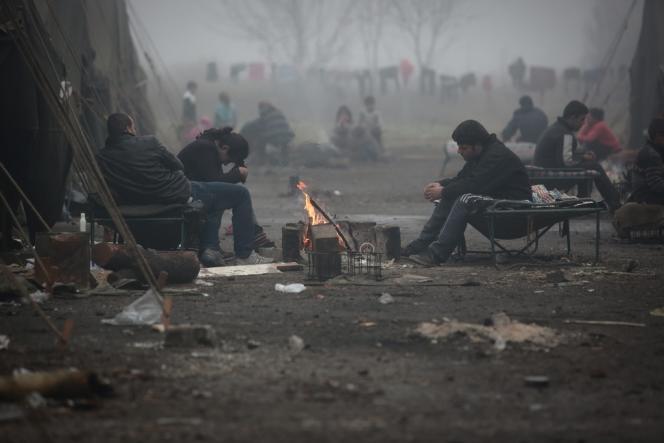 Un camp de réfugiés syriens à Harmanli, à 30 km de la frontière bulgaro-turque, le 21 novembre.