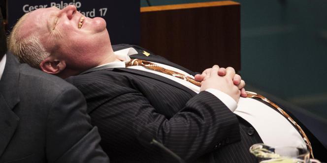 Rob Ford, le 14 novembre à la mairie de Toronto.