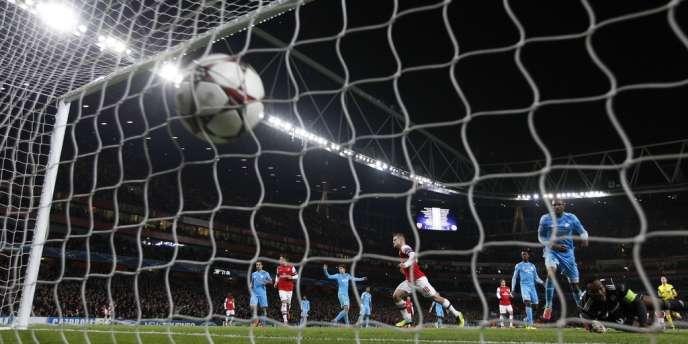 L'Anglais Jack Wilshere marque son deuxième but contre l'OM, le 26 novembre à Londres.