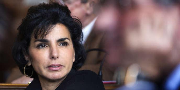 Rachida Dati, lors d'un conseil municipal de Paris, le 25 mars.