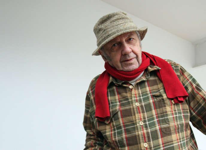 Le photographe américain Saul Leiter à la Fondation Henri-Cartier-Bresson à Paris, le 16 janvier 2008.