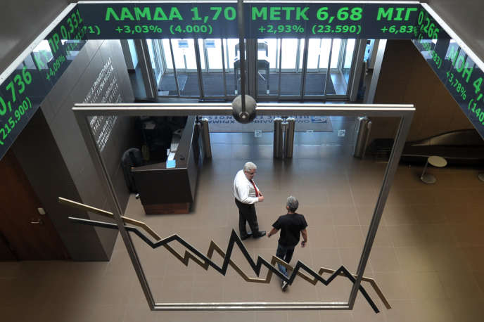 La bourse d'Athènes en 2012.