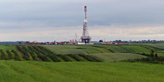 Exploitation de gaz de schiste dans l'est de la Pologne, en juin 2013.