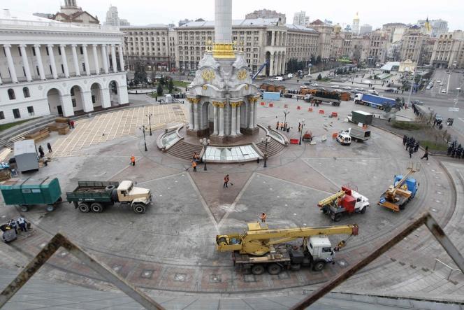 Vue de la place de l'Indépendance, samedi 30 novembre.