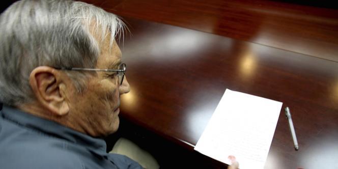 Photographie de Merrill Newman, citoyen américain de 85 ans, diffusée par la Korean Central News Agency (KCNA) le 30 novembre.