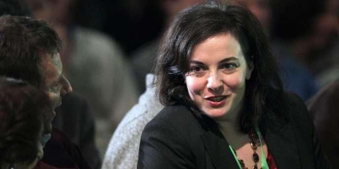 Emmanuelle Cosse, la nouvelle secrétaire nationale d'EELV, le 30 novembre 2013, à Caen.