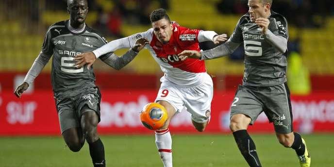 Le Monégasque Emmanuel Rivière, samedi 30 novembre, face à Rennes.