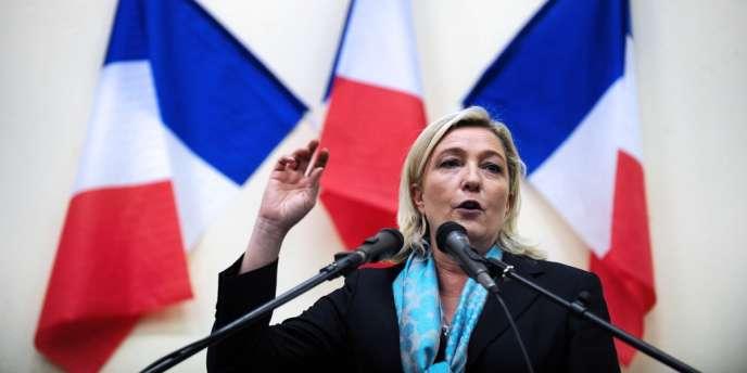 La présidente du Front national, Marine Le Pen, le 9 novembre.