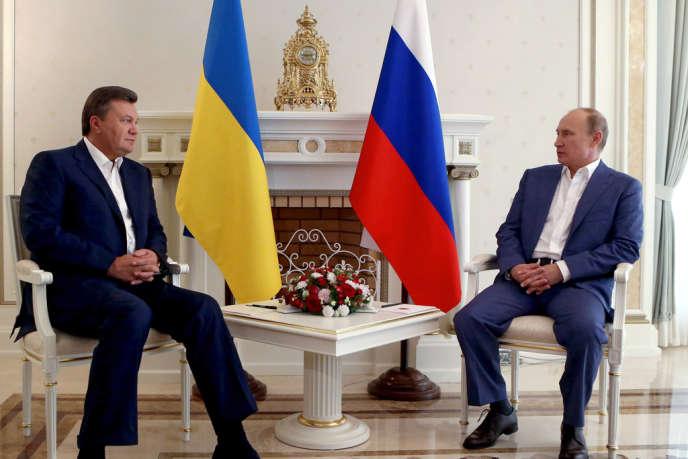 Viktor Ianoukovitch et Vladimir Poutine, en août 2012 à Sotchi.