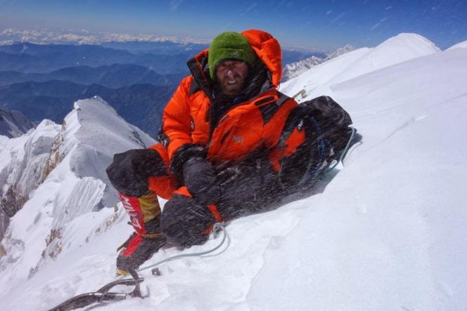 Yannick Graziani, au sommet de l'Annapurna, le 24 octobre