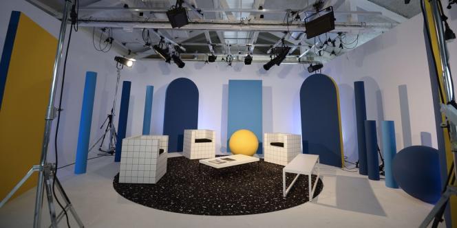 Le studio de tournage de Dailymotion, à Paris, dans le 6e arrondissement.