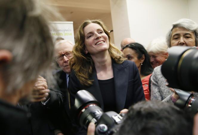Nathalie Kosciusko-Morizet à l'inauguration du siège de campagne de l'UMP pour le 15e arrondissement, le 2 décembre.