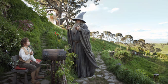 Bilbon (Martin Freeman) et Gandalf (Ian McKellen) dans