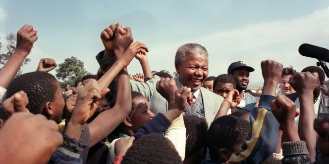 Nelson Mandela à Johannesburg, le 31 mai 1992.