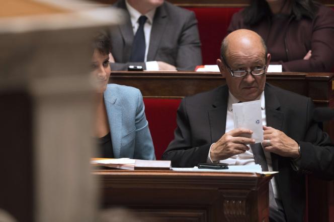Jean-Yves Le Drian, le 4 décembre à l'Assemblée nationale.