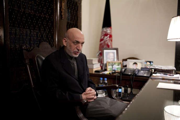 Hamid Karzaï, à Kaboul, le samedi 7 décembre 2013.